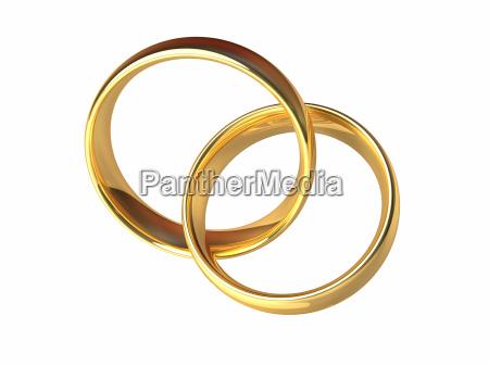 gold, hochzeit, ringe, zusammen - 5456966