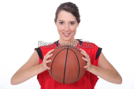 a young female basket ball player