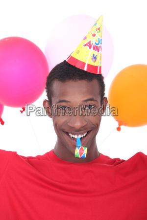black man at birthday039s party