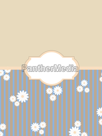 vintage floral background label