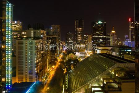 vancouver bc cityscape night scene