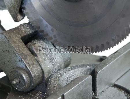 circular cutting blade in close up