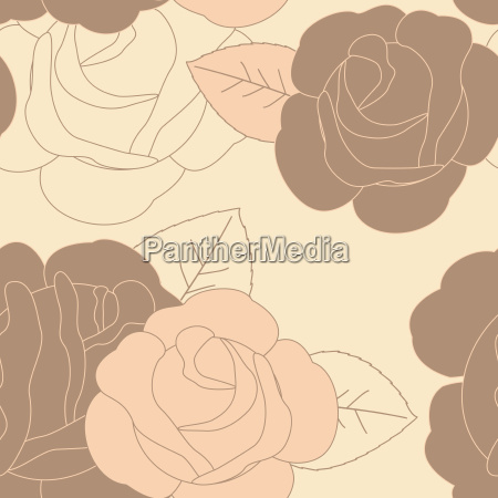 abstract pink rose seamless pattern