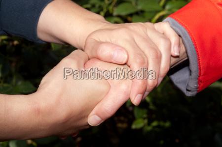 troestende hand