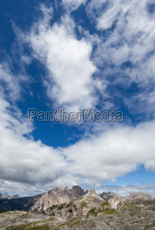clouds over the dolomites