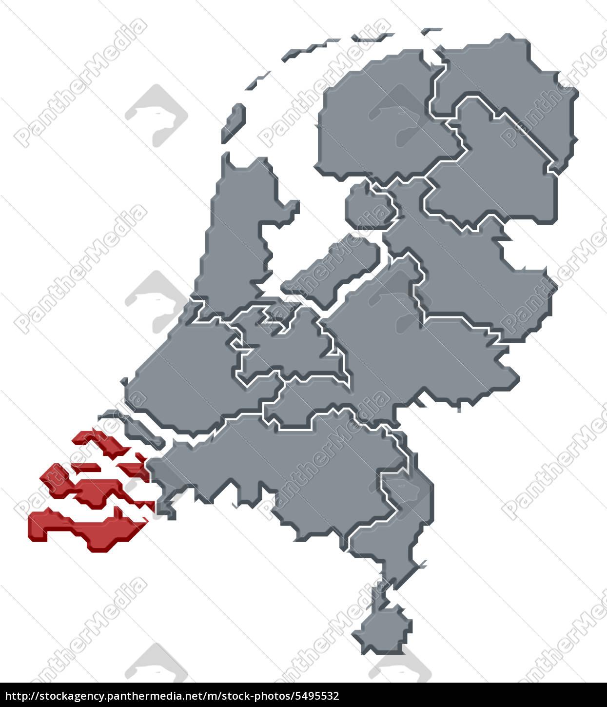 Zeeland Karte Niederlande.Lizenzfreies Foto 5495532 Karte Von Niederlande Zeeland Hervorgehoben