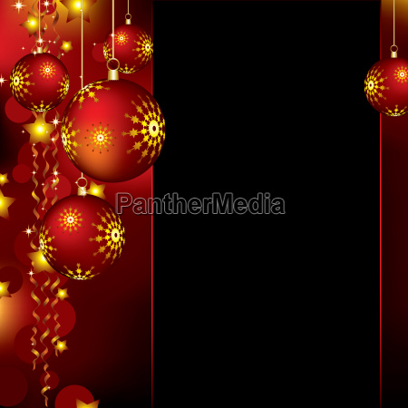 christmas background with baubles and stars