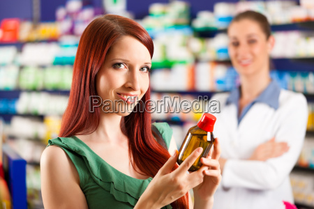 customer shopping in a pharmacy in