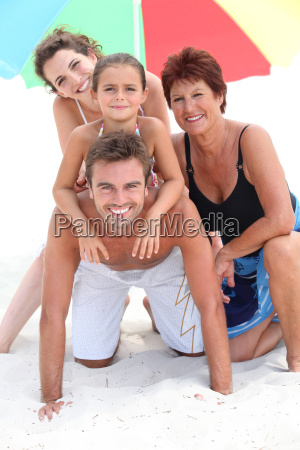 portrait of a family on the