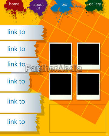 konzeptionelle web seiten layout mit bilderrahmen