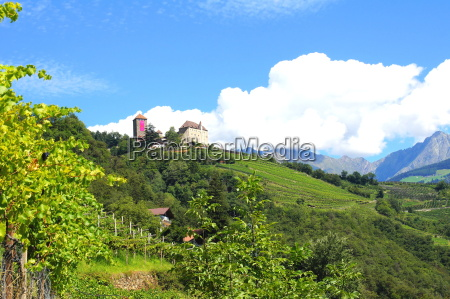 tyrol castle near merano in south