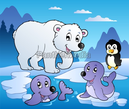 winter scene with various animals 1