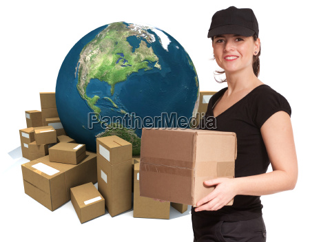 immediate delivery by female courier