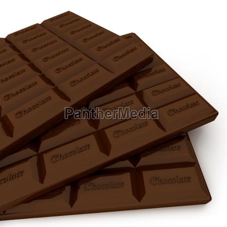 trio von schokolade tabletten