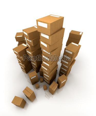 huge pile of cardboard boxes