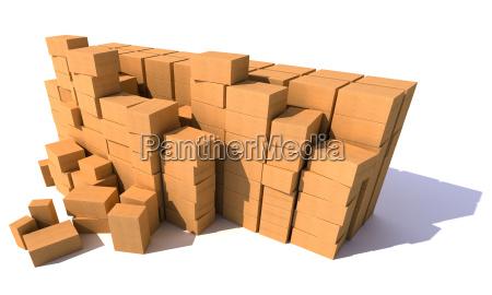 riesige stapel von kartons