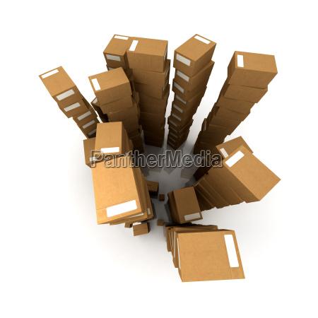 crammed warehouse