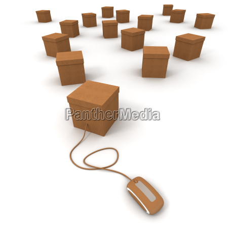 cardboard boxes and internet connexion