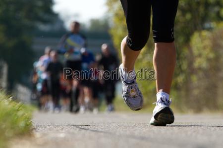 marathonlaeufer im wettkampf