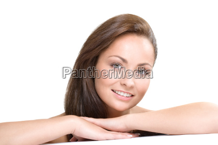young woman natural beauty