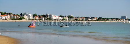 panoramic beach of royan in france