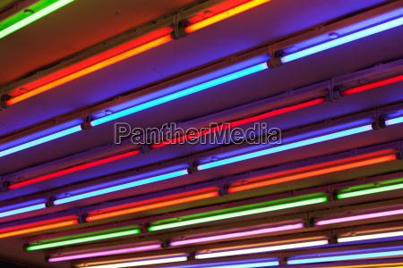abstrakte bunte neon licht linien