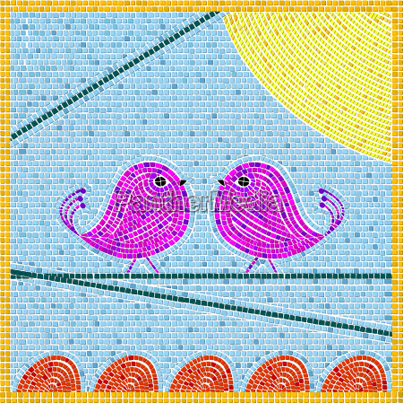 tweet birds mosiac