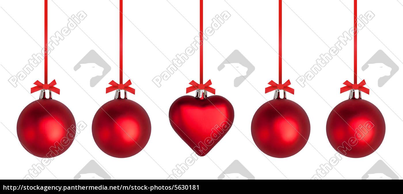 weihnachtskugeln mit roter schleife stockfoto 5630181. Black Bedroom Furniture Sets. Home Design Ideas