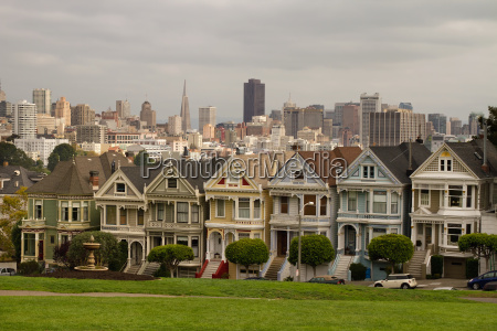 painted ladies row houses and san