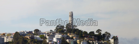 coit tower on telegraph hill panorama
