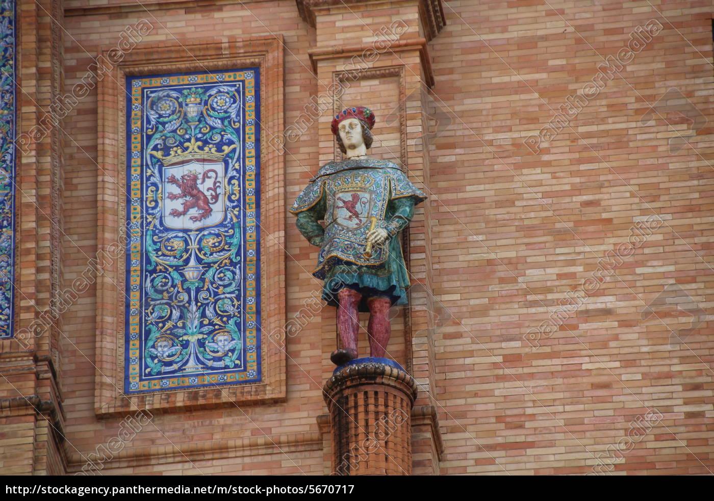 statue, -, plaze, de, espana, - - 5670717