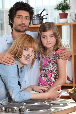 parents and their daughter in the