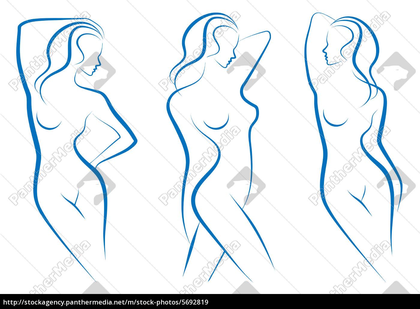 Berühmt Weibliche Körperzeichnungsvorlage Ideen - Beispiel ...