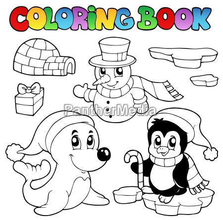 coloring book wintertime animals 3