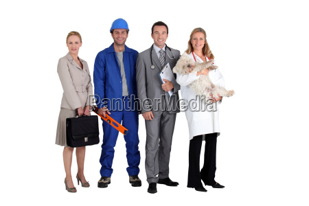four different occupations