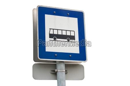 schild signal zeichen bahnhof station blau