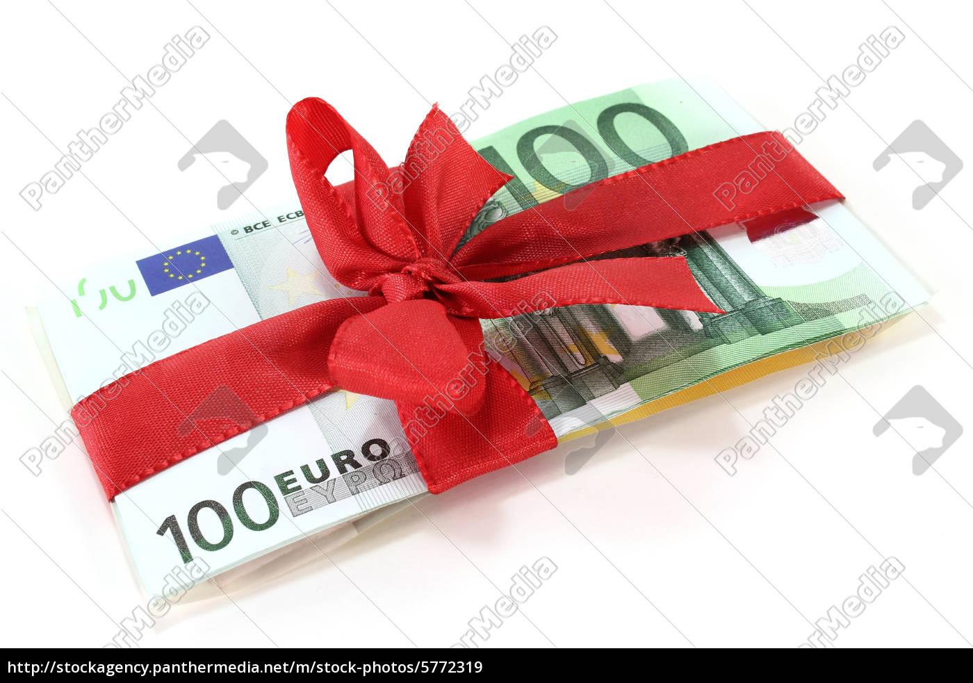 eurobanknoten, mit, schleife - 5772319
