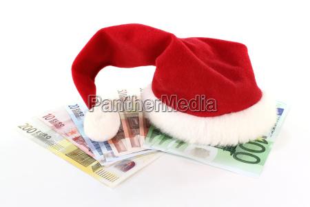 weihnachtsmuetze mit geld