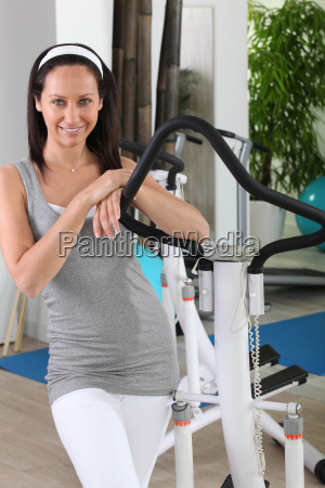 woman in fitness room