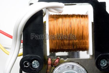 kupferdraht wicklungen im inneren des elektromotors