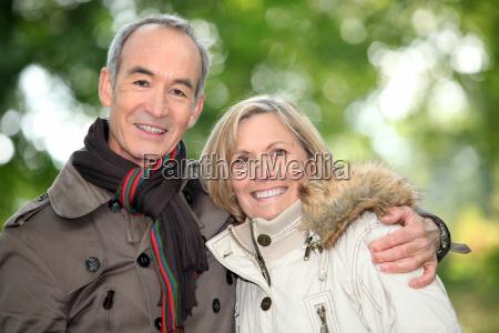 older couple on an autumnal