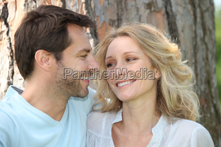 couple in love in front of