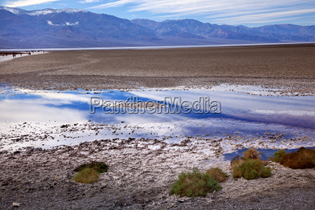 badwater panamint mountains nationalpark death valley
