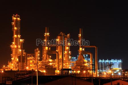 petrochemischen raffinerie anlage