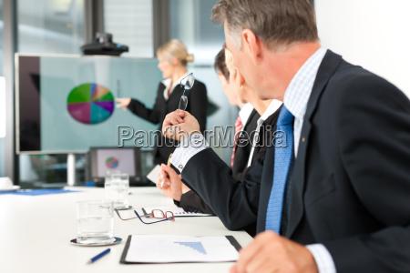 business praesentation in einem team