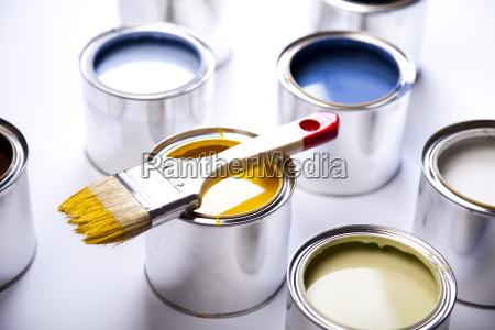 pinsel und dosen malen