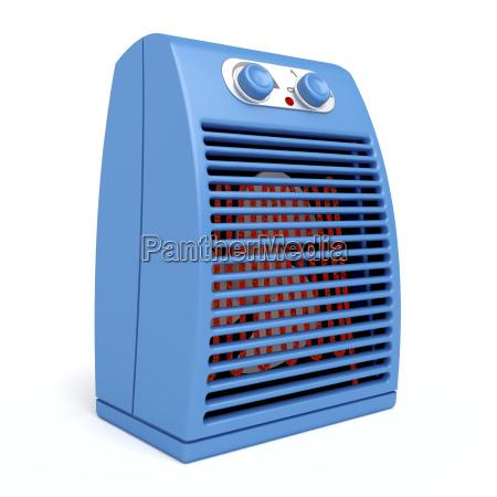 blaue elektrische heizung