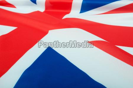 blau closeup england fahne glaenzend flagge