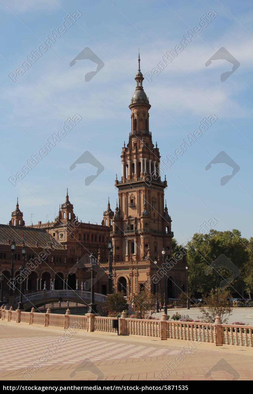 plaza, de, españa, -, sevilla - 5871535