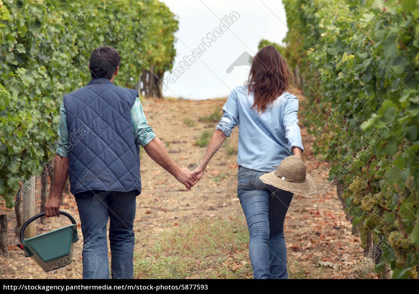 paar, händchen, haltend - 5877593